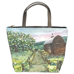 amish Apple Blossoms  By Ave Hurley Of Artrevu   Bucket Bag