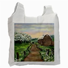 Amish Apple Blossoms  by Ave Hurley of ArtRevu ~ Recycle Bag (One Side)