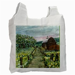 amish Apple Blossoms  By Ave Hurley Of Artrevu   Recycle Bag (two Side)