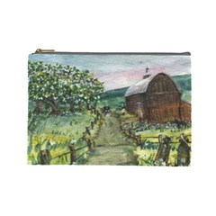 Amish Apple Blossoms  by Ave Hurley of ArtRevu ~ Cosmetic Bag (Large)
