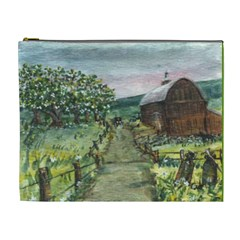 Amish Apple Blossoms  by Ave Hurley of ArtRevu ~ Cosmetic Bag (XL)