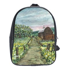 Amish Apple Blossoms  by Ave Hurley of ArtRevu ~ School Bag (Large)