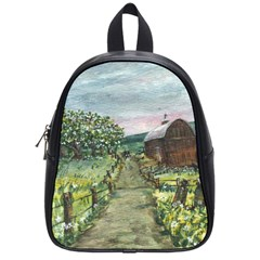 Amish Apple Blossoms  by Ave Hurley of ArtRevu ~ School Bag (Small)