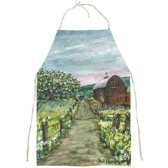 amish Apple Blossoms  By Ave Hurley Of Artrevu   Full Print Apron