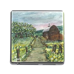 Amish Apple Blossoms  by Ave Hurley of ArtRevu ~ Memory Card Reader (Square)