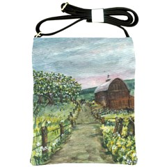 Amish Apple Blossoms  by Ave Hurley of ArtRevu ~ Shoulder Sling Bag