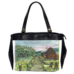Amish Apple Blossoms  by Ave Hurley of ArtRevu ~ Oversize Office Handbag (2 Sides)