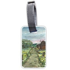 Amish Apple Blossoms  by Ave Hurley of ArtRevu ~ Luggage Tag (one side)