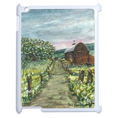 Amish Apple Blossoms  by Ave Hurley of ArtRevu ~ Apple iPad 2 Case (White)