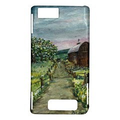 Amish Apple Blossoms  by Ave Hurley of ArtRevu ~ Motorola Droid X / X2 Hardshell Case