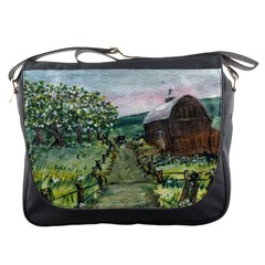 amish Apple Blossoms  By Ave Hurley Of Artrevu   Messenger Bag