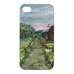 Amish Apple Blossoms  by Ave Hurley of ArtRevu ~ Apple iPhone 4/4S Premium Hardshell Case