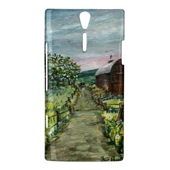 Amish Apple Blossoms  by Ave Hurley of ArtRevu ~ Sony Xperia S Hardshell Case