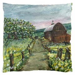 amish Apple Blossoms  By Ave Hurley Of Artrevu   Large Cushion Case (two Sides)