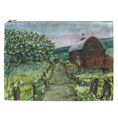 Amish Apple Blossoms  by Ave Hurley of ArtRevu ~ Cosmetic Bag (XXL)