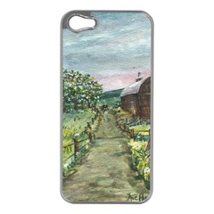 Amish Apple Blossoms  by Ave Hurley of ArtRevu ~ Apple iPhone 5 Case (Silver)