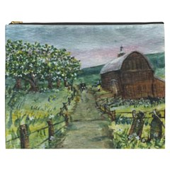 Amish Apple Blossoms  by Ave Hurley of ArtRevu ~ Cosmetic Bag (XXXL)