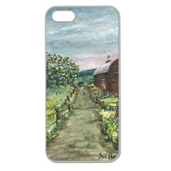 Amish Apple Blossoms  by Ave Hurley of ArtRevu ~ Apple Seamless iPhone 5 Case (Clear)