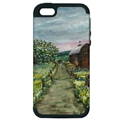 amish Apple Blossoms  By Ave Hurley Of Artrevu   Apple Iphone 5 Hardshell Case (pc+silicone)