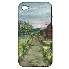 amish Apple Blossoms  By Ave Hurley Of Artrevu   Apple Iphone 4/4s Hardshell Case (pc+silicone)