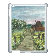 Amish Apple Blossoms  by Ave Hurley of ArtRevu ~ Apple iPad 3/4 Case (White)