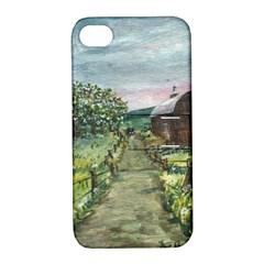 Amish Apple Blossoms  by Ave Hurley of ArtRevu ~ Apple iPhone 4/4S Hardshell Case with Stand