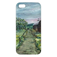 Amish Apple Blossoms  by Ave Hurley of ArtRevu ~ Apple iPhone 5 Premium Hardshell Case