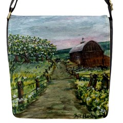 Amish Apple Blossoms  by Ave Hurley of ArtRevu ~ Flap Closure Messenger Bag (S)