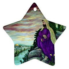 Jesus Overlooking Jerusalem   Ave Hurley   Artrave   Star Ornament
