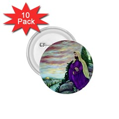 Jesus Overlooking Jerusalem - Ave Hurley - ArtRave - 1.75  Button (10 pack)
