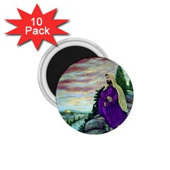 Jesus Overlooking Jerusalem - Ave Hurley - ArtRave - 1.75  Button Magnet (10 pack)