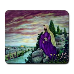 Jesus Overlooking Jerusalem - Ave Hurley - ArtRave - Large Mouse Pad (Rectangle)