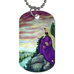 Jesus Overlooking Jerusalem   Ave Hurley   Artrave   Dog Tag (two Sided)