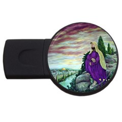 Jesus Overlooking Jerusalem - Ave Hurley - ArtRave - 2GB USB Flash Drive (Round)