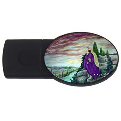 Jesus Overlooking Jerusalem - Ave Hurley - ArtRave - 1GB USB Flash Drive (Oval)