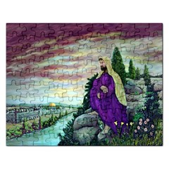 Jesus Overlooking Jerusalem - Ave Hurley - ArtRave - Jigsaw Puzzle (Rectangle)
