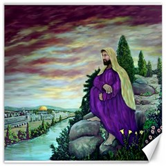 Jesus Overlooking Jerusalem - Ave Hurley - ArtRave - Canvas 20  x 20  (Unframed)