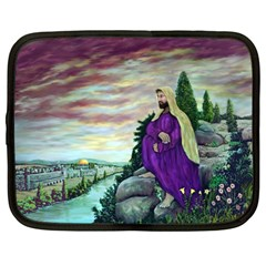 Jesus Overlooking Jerusalem - Ave Hurley - ArtRave - Netbook Sleeve (Large)