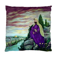 Jesus Overlooking Jerusalem - Ave Hurley - ArtRave - Cushion Case (Single Sided)