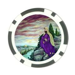 Jesus Overlooking Jerusalem - Ave Hurley - ArtRave - Poker Chip (10 Pack)
