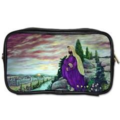 Jesus Overlooking Jerusalem - Ave Hurley - ArtRave - Travel Toiletry Bag (One Side)