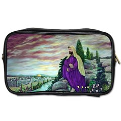 Jesus Overlooking Jerusalem - Ave Hurley - ArtRave - Travel Toiletry Bag (Two Sides)