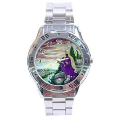 Jesus Overlooking Jerusalem   Ave Hurley   Artrave   Stainless Steel Watch