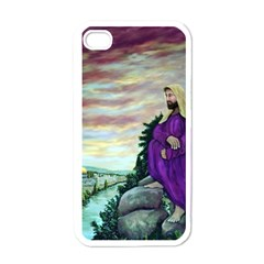 Jesus Overlooking Jerusalem   Ave Hurley   Artrave   Apple Iphone 4 Case (white)