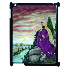 Jesus Overlooking Jerusalem - Ave Hurley - ArtRave - Apple iPad 2 Case (Black)