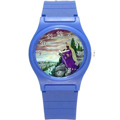 Jesus Overlooking Jerusalem - Ave Hurley - ArtRave - Plastic Sport Watch (Small)