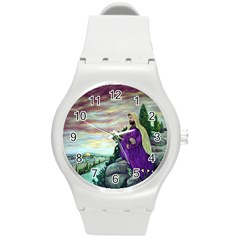 Jesus Overlooking Jerusalem - Ave Hurley - ArtRave - Plastic Sport Watch (Medium)