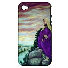 Jesus Overlooking Jerusalem - Ave Hurley - ArtRave - Apple iPhone 4/4S Hardshell Case (PC+Silicone)