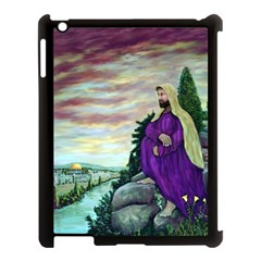 Jesus Overlooking Jerusalem - Ave Hurley - ArtRave - Apple iPad 3/4 Case (Black)