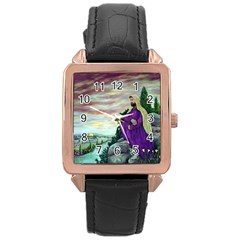 Jesus Overlooking Jerusalem - Ave Hurley - ArtRave - Rose Gold Leather Watch